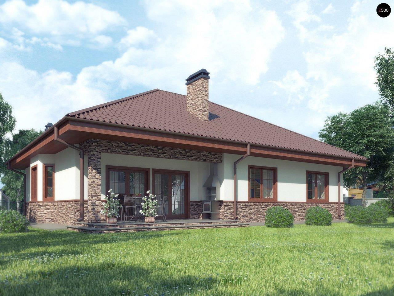 Комфортный дом с открытой мансардой в традиционном стиле (версия проекта Z10) - фото 2