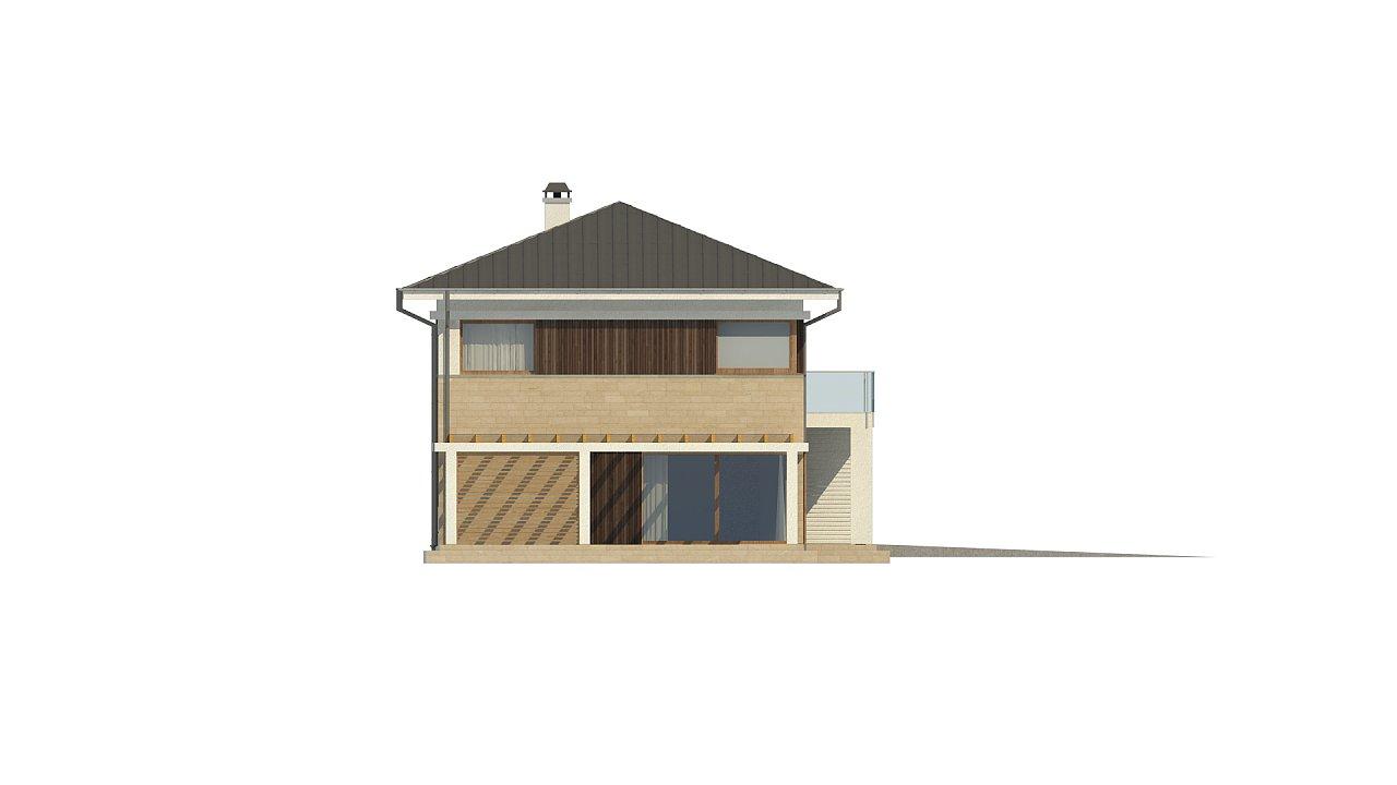 Увеличенная версия проекта современного дома Zx63 B 34