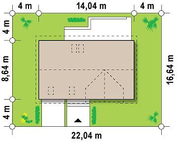Дом со встроенным гаражом, красивым мансардным окном и вторым светом над гостиной. план помещений 1