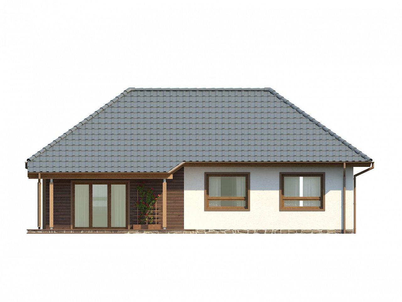 Проект одноэтажного классического дома адаптированного для каркасной технологии строительства. - фото 15