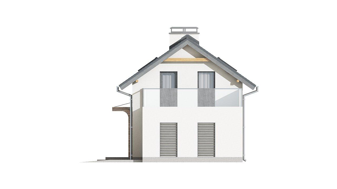 Практичный и уютный дом с оригинальным оформлением фасадов, идеальный для неглубокого участка. - фото 7