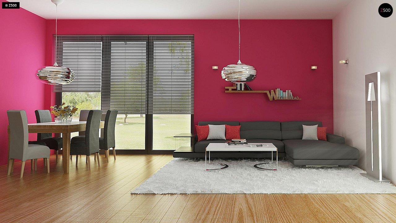 Дом простой энергосберегающей формы со светлым интерьером, подходящий для узкого участка. - фото 3