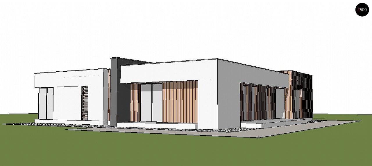 Подвариант одноэтажного дома Zx49 с гаражом для двух машин. 3