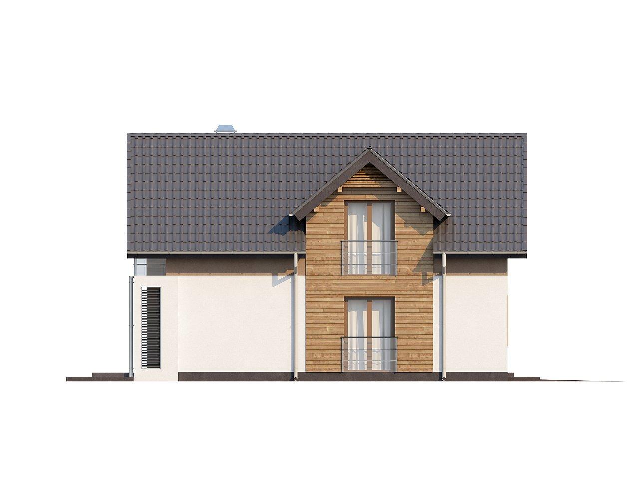 Проект удобного функционального дома с мансардой и гаражом  5