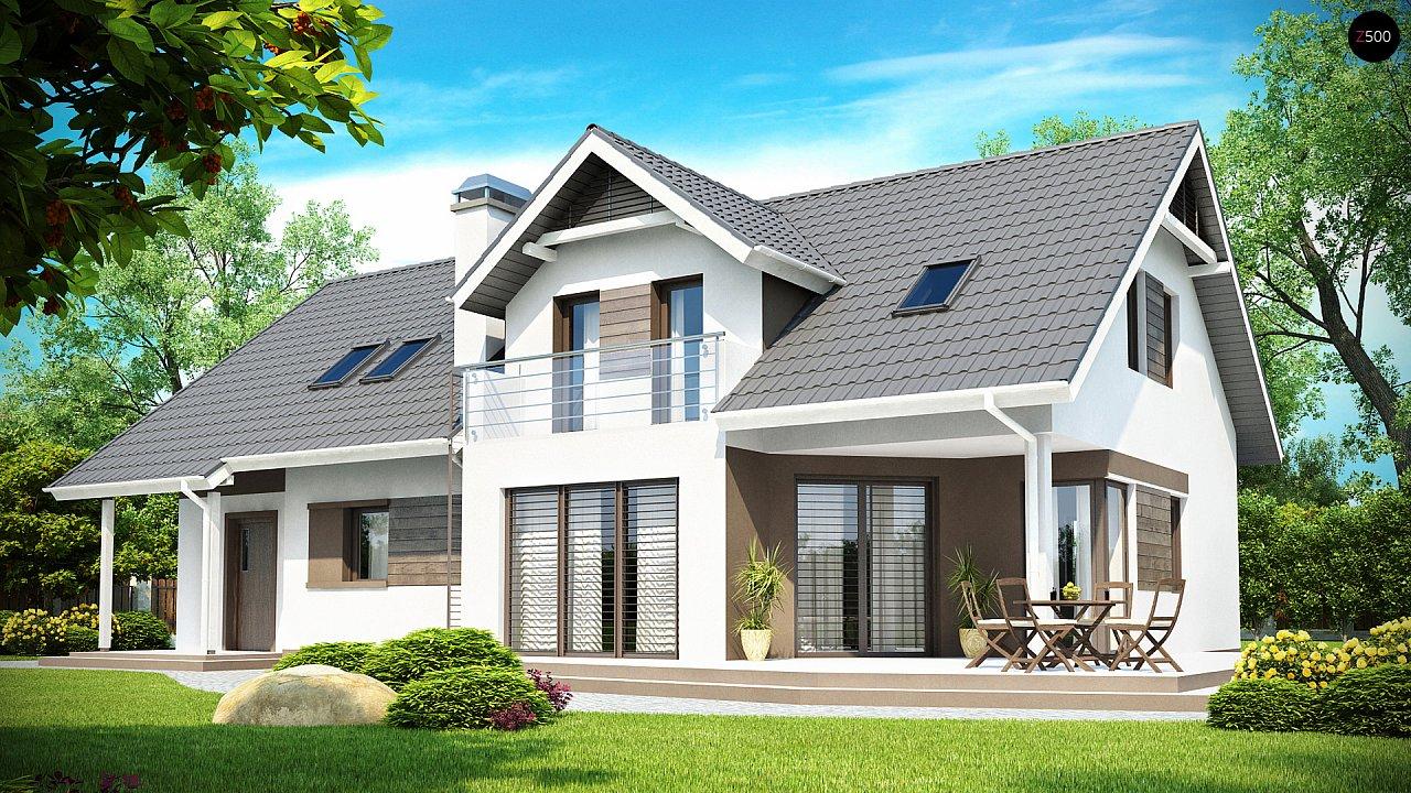 Комфортабельный дом со встроенным гаражом, угловой террасой и кабинетом на первом этаже. - фото 2