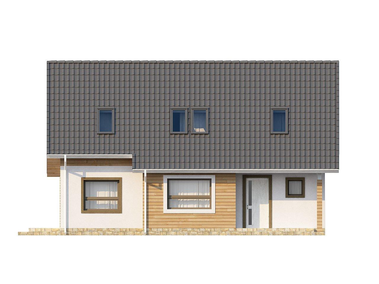 Традиционный дом простой формы с двускатной крышей, с дополнительной комнатой на первом этаже. 21