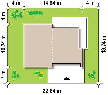 Современный функциональный дом с большой площадью остекления в гостиной. план помещений 1