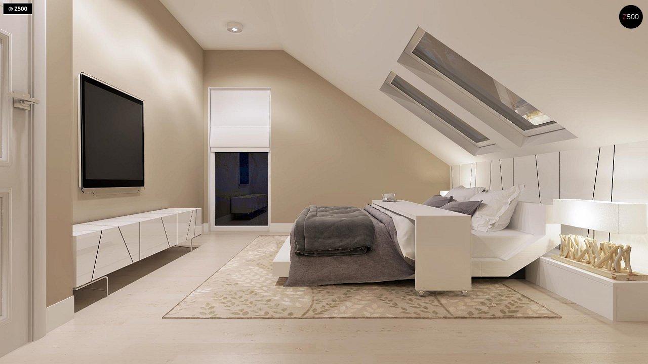 Компактный дом с мансардой, эркером в дневной зоне и c кабинетом на первом этаже. 11