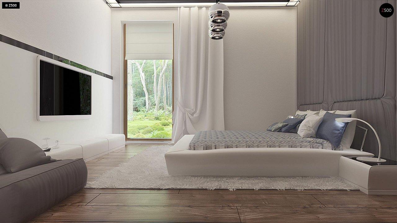 Проект современного дома в стиле хай-тек с двумя спальнями. - фото 18