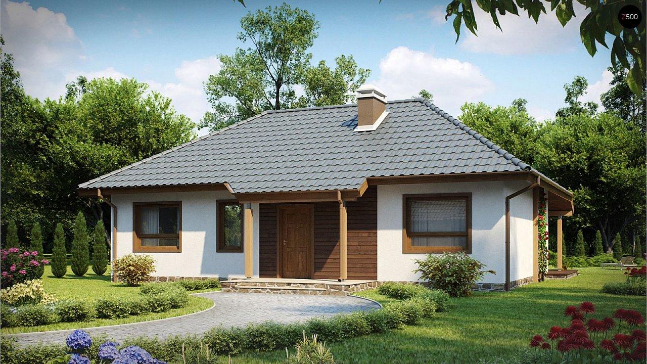 Проект одноэтажного классического дома адаптированного для каркасной технологии строительства. - фото 1