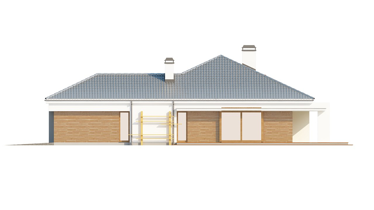Практичный одноэтажный дом с гаражом, с возможностью адаптации мансарды. 6
