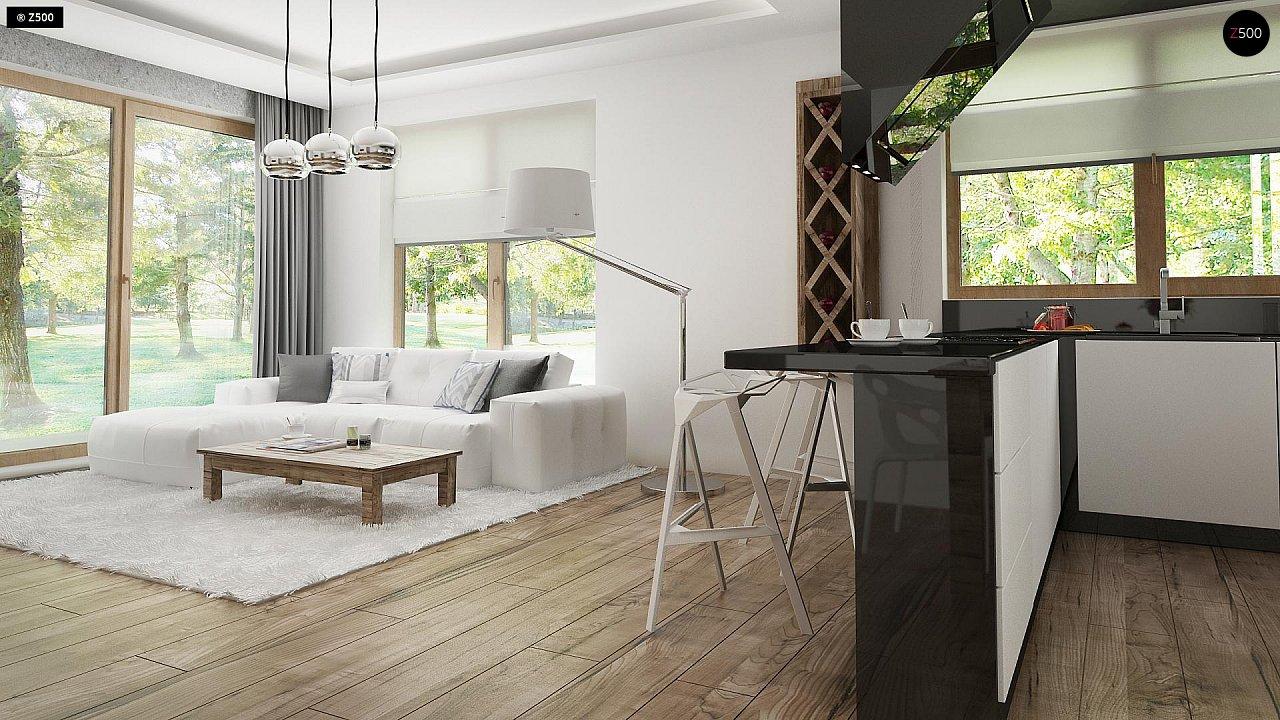 Проект современного дома в стиле хай-тек с двумя спальнями. - фото 10