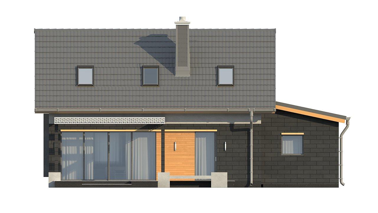 Проект компактного аккуратного дома с гаражом. - фото 9