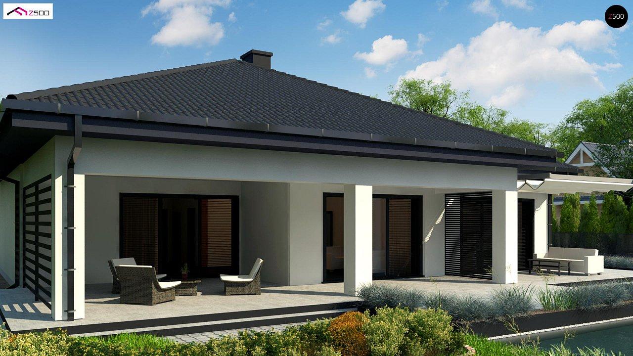 Одноэтажный дом с просторной гостиной и открытой кухней 5