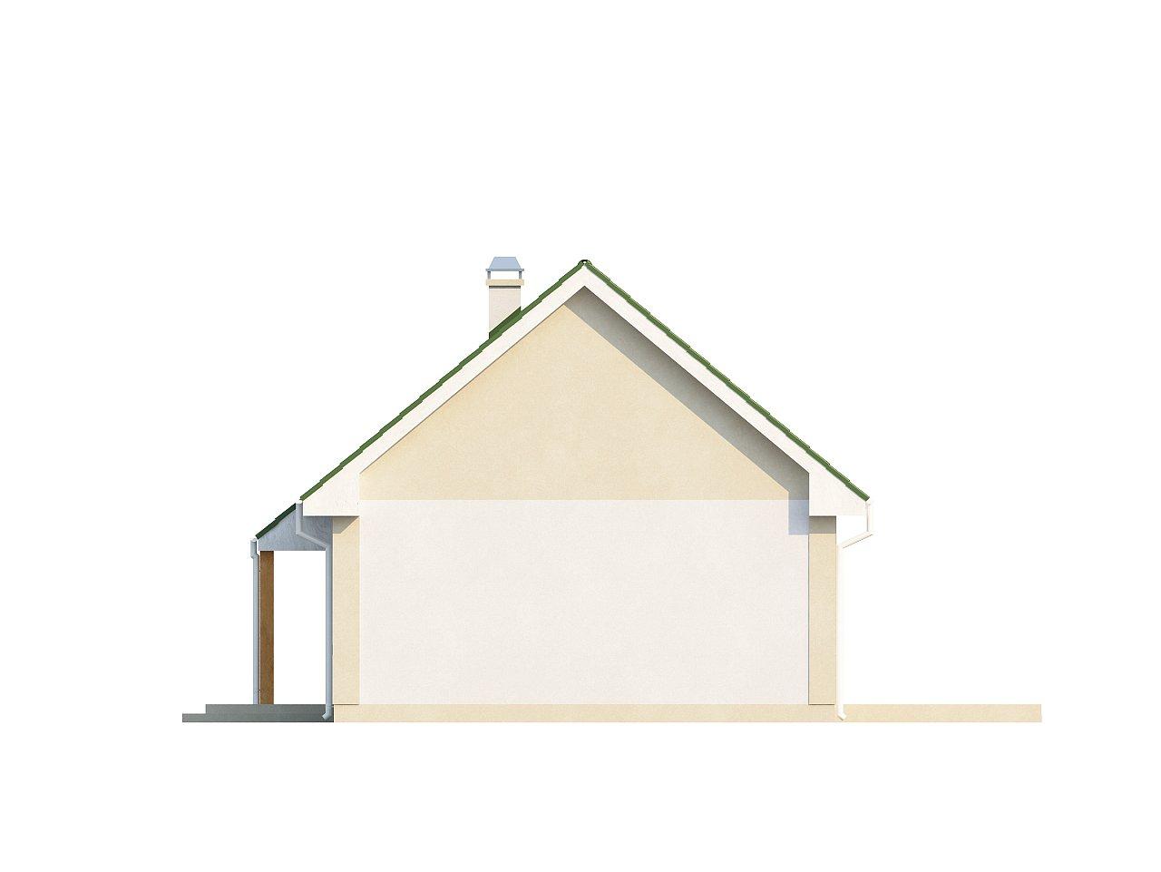 Простой в реализации дом с двускатной крышей, с возможностью обустройства мансарды. 17