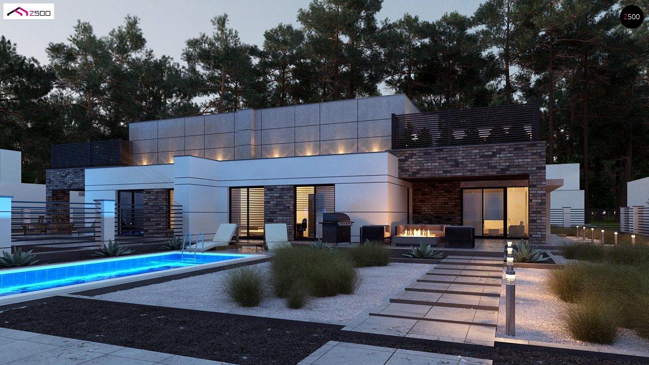 Современный большой дом с плоской крышей - фото 5