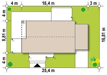 Версия проекта Z258 с гаражом пристроенным справа. план помещений 1