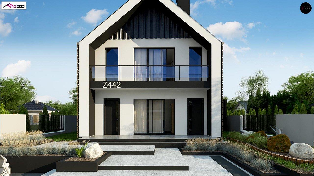 Двухэтажный дом в современном стиле для узкого участка. - фото 6