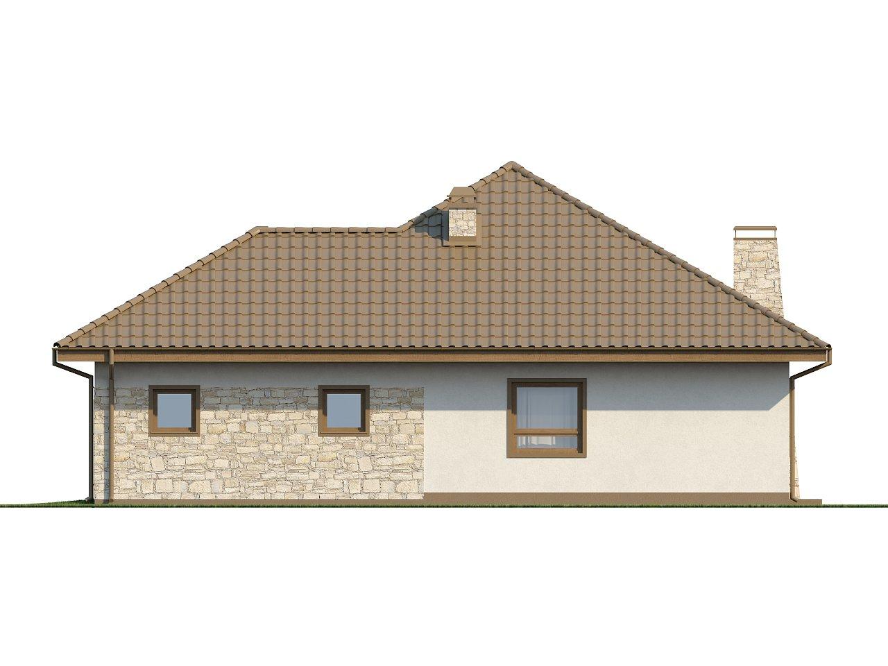 Практичный одноэтажный дом с большим гаражом, просторной гостиной и двумя спальнями. 15