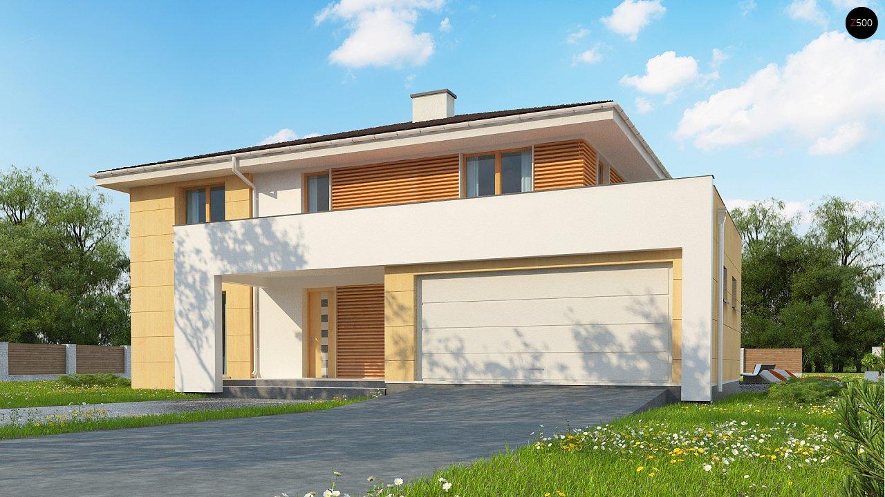 Проект комфортабельного двухэтажного коттеджа современного дизайна 2