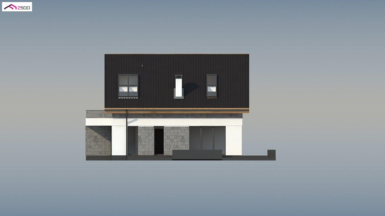 Мансардный дом с гаражом, расположенным с фронтальной стороны фасада - фото 9