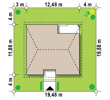 Версия проекта Z24 с кирпичными фасадами. план помещений 1