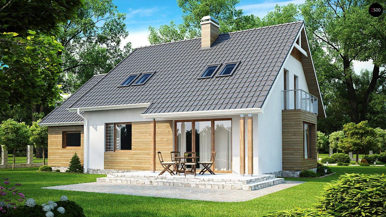 Проект функционального и удобного дома с комнатой над гаражом. 2