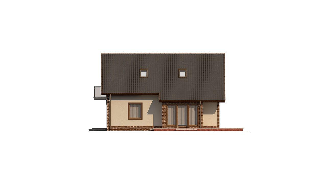Проект мансардного дома - вариант Z63 c внесенными изменениями в планировку и гаражом для 1 авто 5