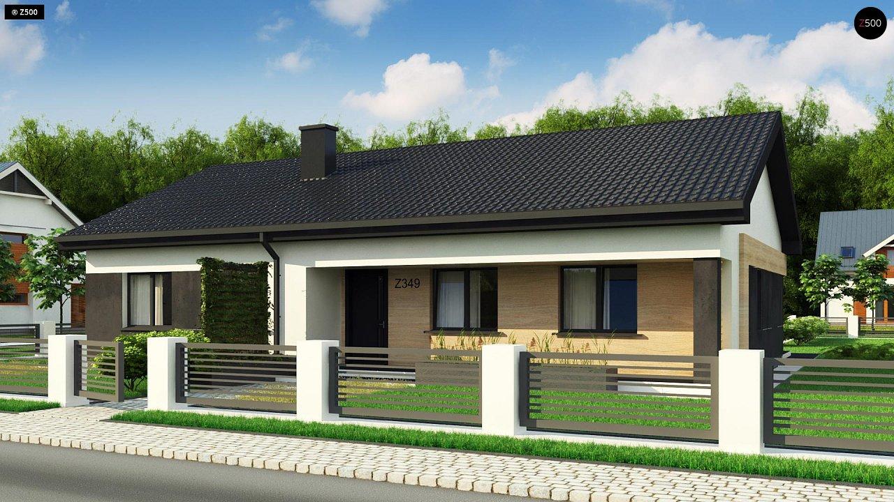 Стильный одноэтажный дом с двускатной кровлей и грамотной планировкой 4