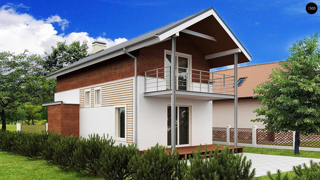 Проект двухэтажного дома для очень узкого участка. - фото 1