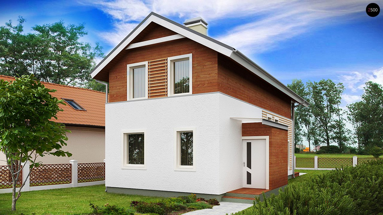 Проект двухэтажного дома для очень узкого участка. - фото 2