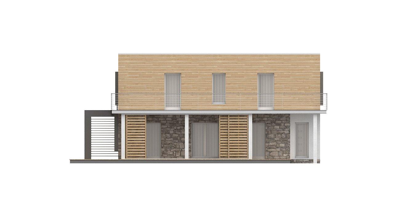 Оригинальный дом в современном стиле с обширной террасой над гаражом. - фото 7