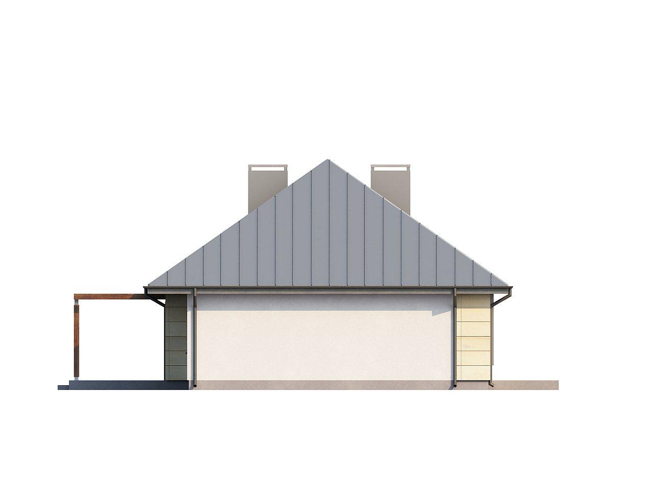 Одноэтажный дом с возможностью обустройства чердачного помещения, оптимальный для южного въезда на участок. 15