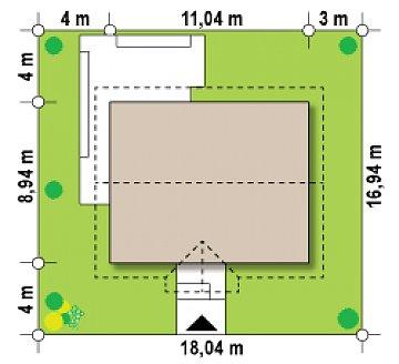 Компактный одноэтажный до в традиционном стиле. план помещений 1