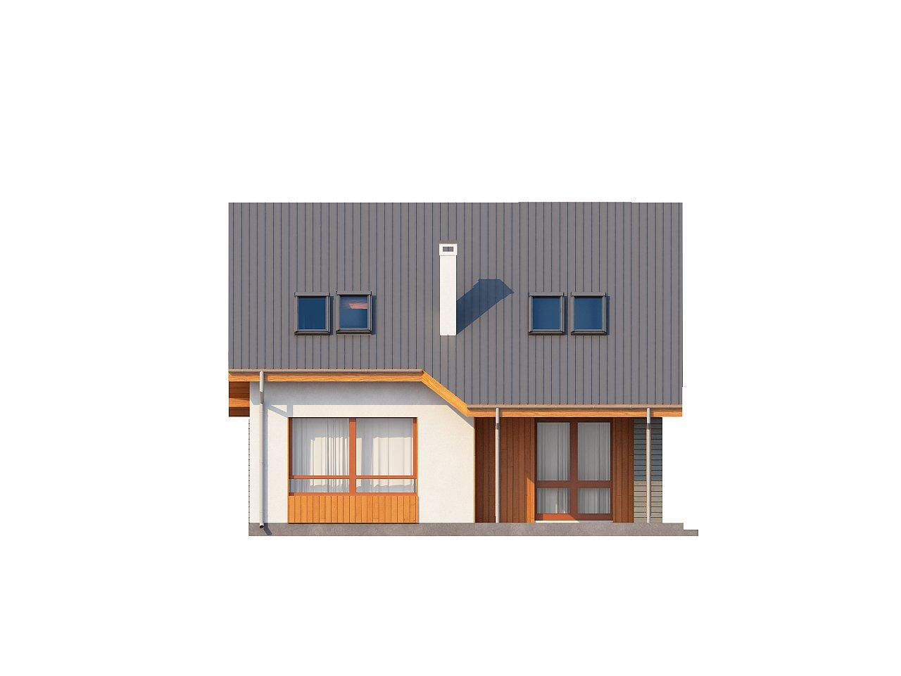 Проект небольшого практичного дома, выгодного в строительстве и эксплуатации. - фото 4