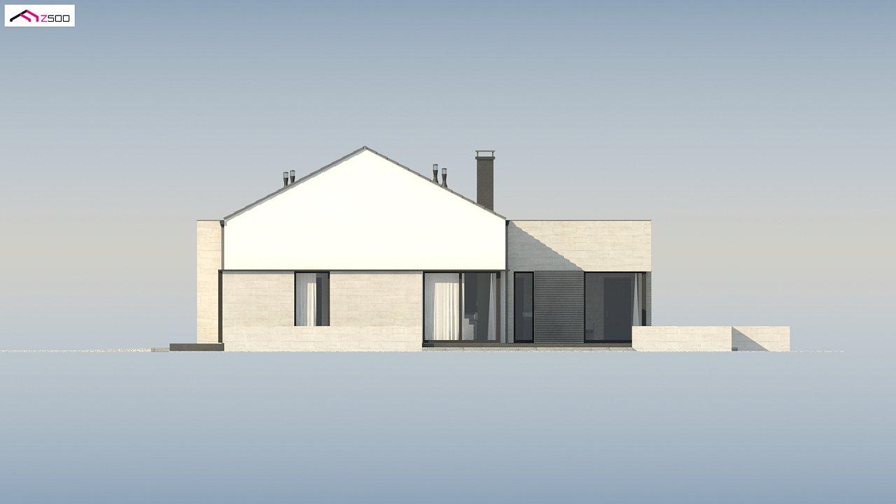 Проект одноэтажного дома Z390 с гаражом на 1 машину и красивым белым фасадом 21