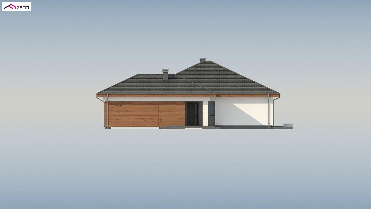 Проект комфортного одноэтажного дома с гаражом для двух авто. 7