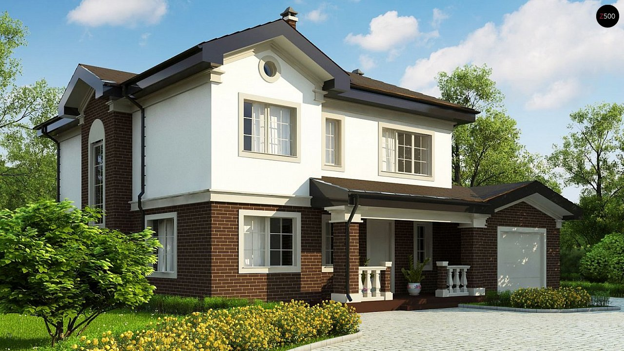 Проект двухэтажного дома, адаптированный для строительства в сейсмоопасных районах 1