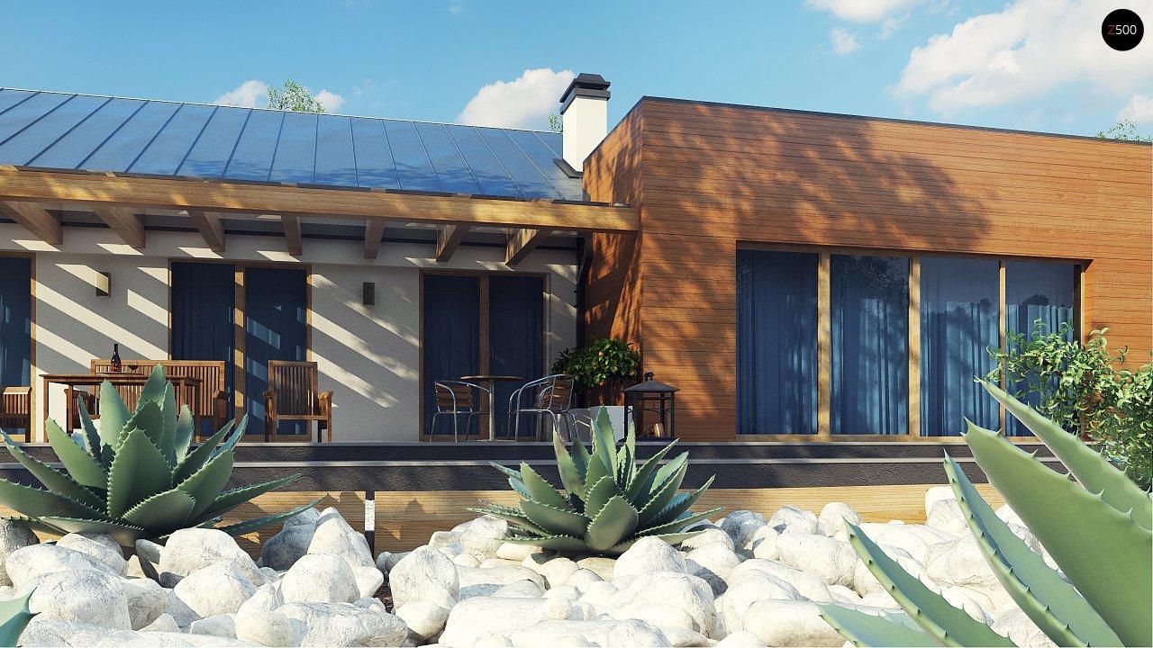 Комфортный функциональный одноэтажный дом простой формы и с гаражом для двух авто. 5