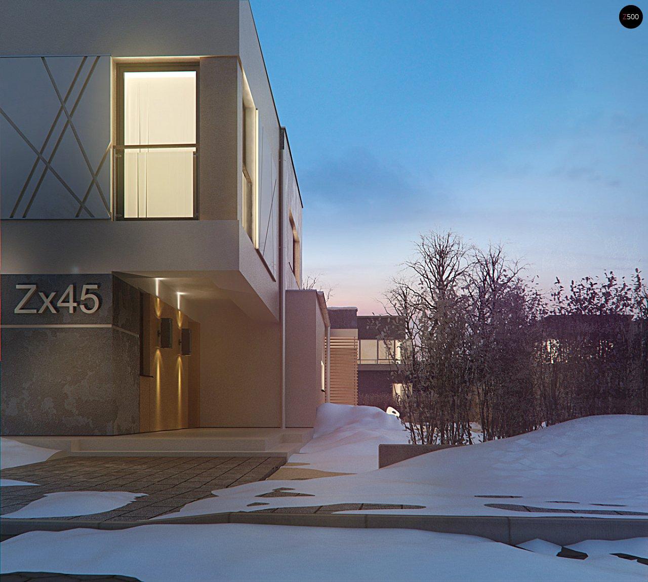 Дом характерного современного дизайна с гаражом и кабинетом на первом этаже. - фото 14