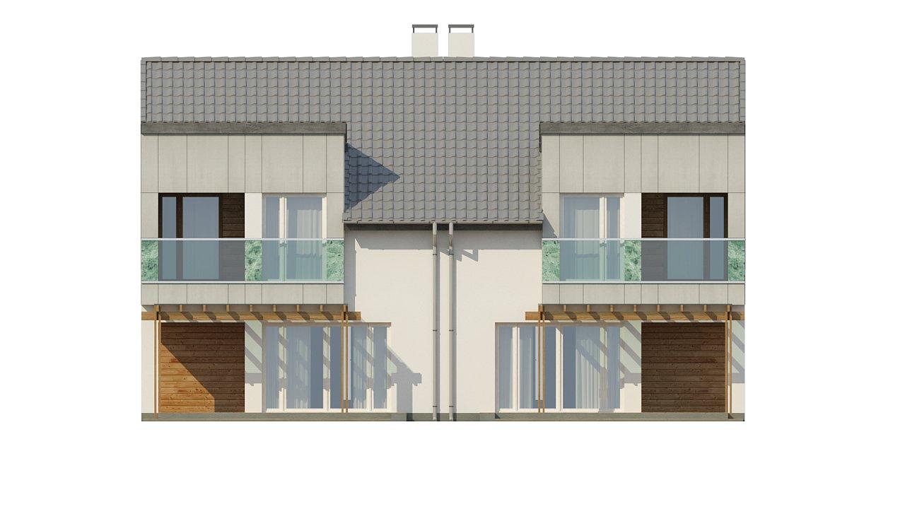 Компактные дома близнецы в современном стиле с уютным интерьером. 14