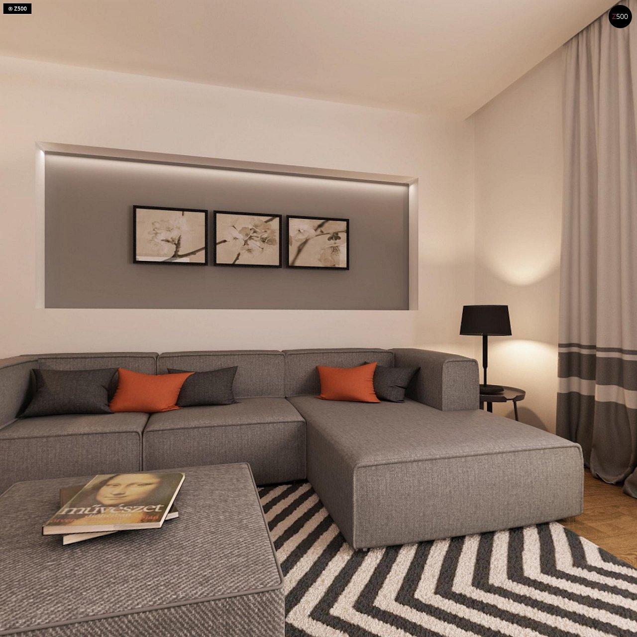 Функциональный одноэтажный дом с современными элементами отделки фасадов. - фото 8