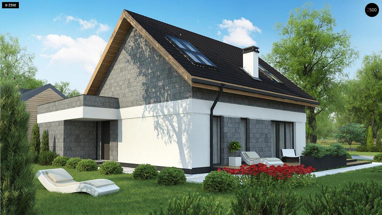 Мансардный дом с гаражом, расположенным с фронтальной стороны фасада - фото 5