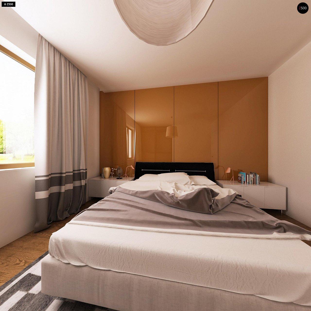Функциональный одноэтажный дом с современными элементами отделки фасадов. - фото 9
