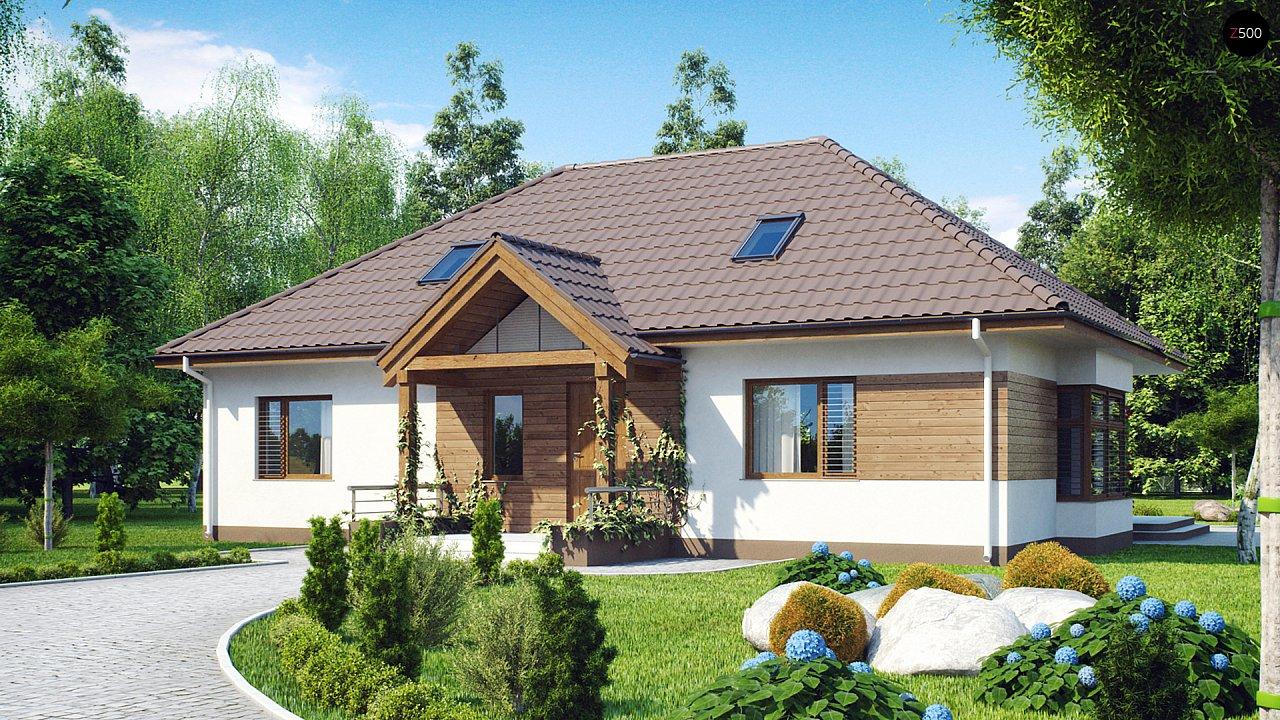 Проект традиционного дома с возможностью адаптации чердачного помещения. 1
