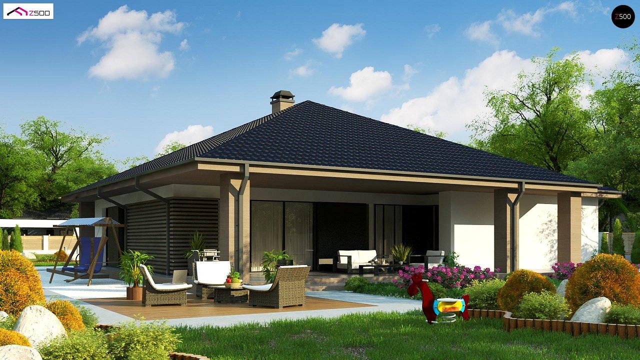 Компактный одноэтажный дом стильного дизайна 4