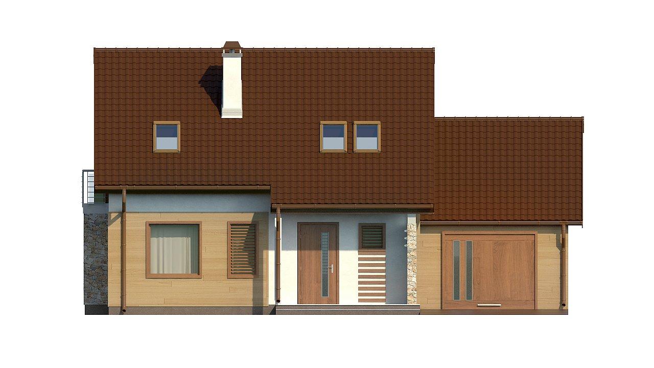 Версия проекта дома Z102 с гаражом, пристроенным справа. 21