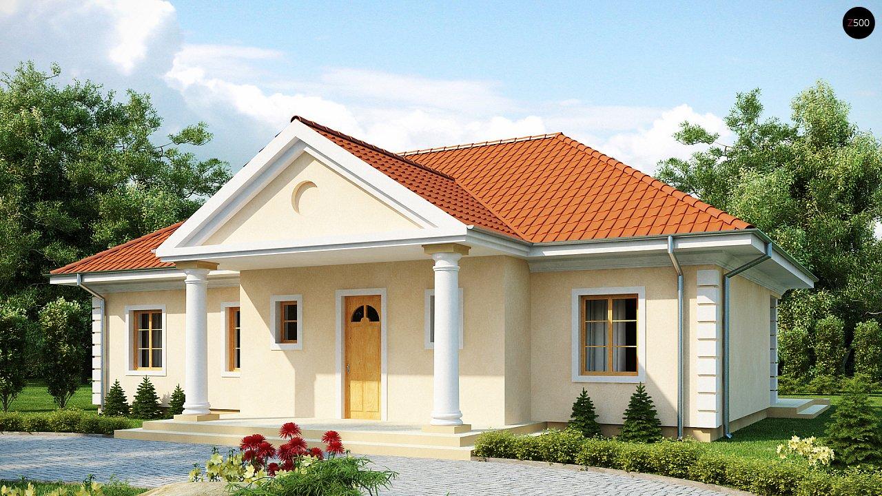Проект в стиле дворянской усадьбы с возможностью обустройства чердачного помещения. 1