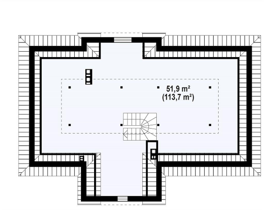 Зеркальный вариант увеличенного дома Z2 план помещений 2