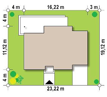 Удобный одноэтажный дом небольшой площади план помещений 1